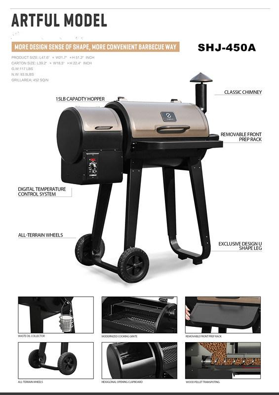 USA Hot Sale Portable Wood Pellet Smoker BBQ Grill - China
