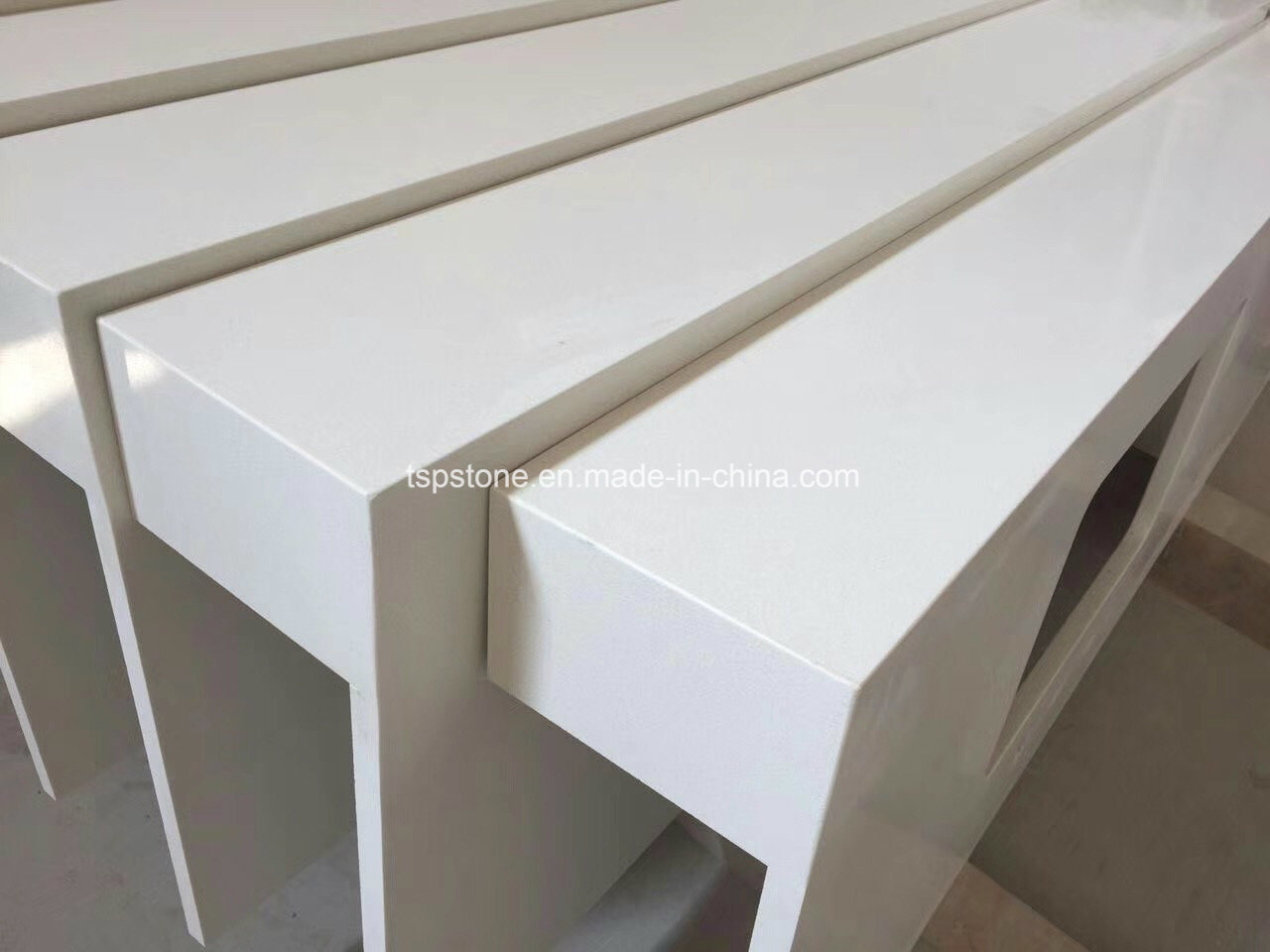 Smart expo building material solid surface granite for Manufactured quartz
