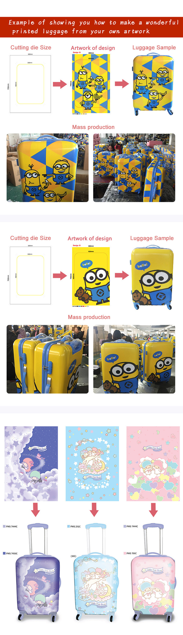 88690aa09 **OEM/ODM YOUR OWN PRINTING DESIGN** SEND US ARTWORK OF YOUR DESIGN AND WE  PRINT ON THE LUGGAGE