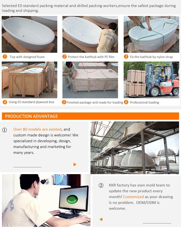 Smart Expo - Best Sell New Design Free Standing Bathtub Artificial ...