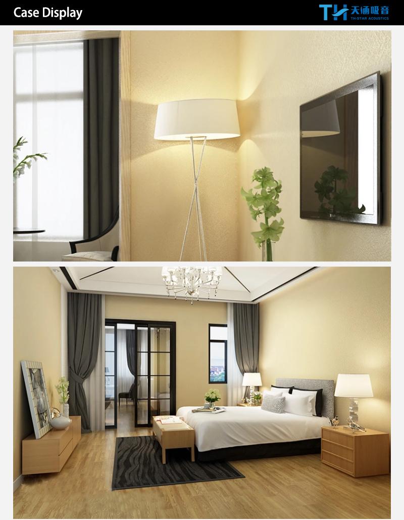Eco Friendly Polyester Fiber Interior Decorative Wallpaper Covered ...