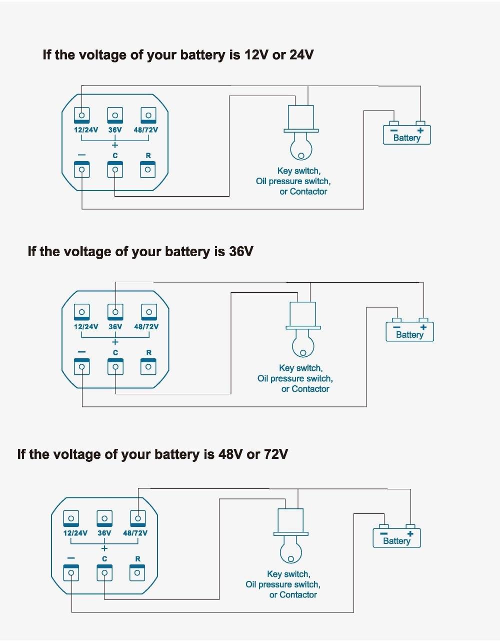 12v 24v 36v 48v 72v Battery Status Charge Led Digital Indicator Wiring Diagram 1 English User Manual