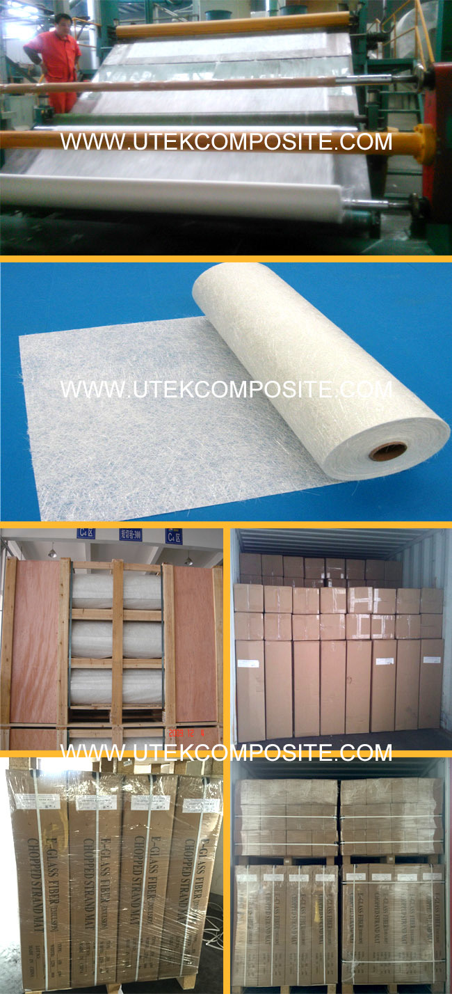 High Mechanical Strength Fiberglass Chopped Strand Mat Fiberglass