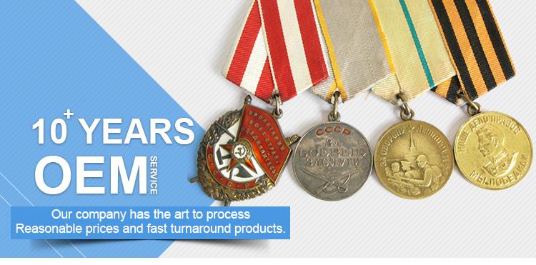 OEM factory price custom logo ribbon for metal medals