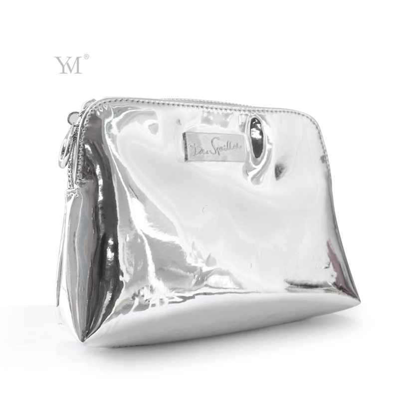 a3f3c4349676 Shiny Luxury Cosmetic Pouch Toiletry Bag Leather Cosmetic Bag ...