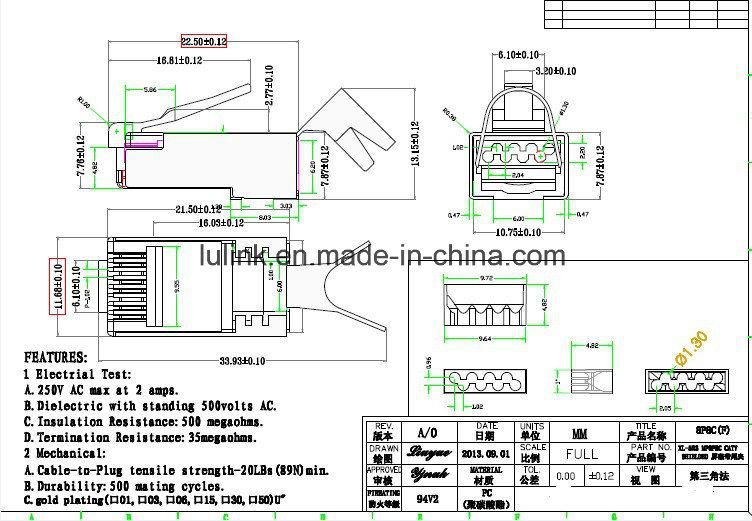 Best Price RJ45 Color Boots 8p8c Plug PVC Connector - China RJ45 ...