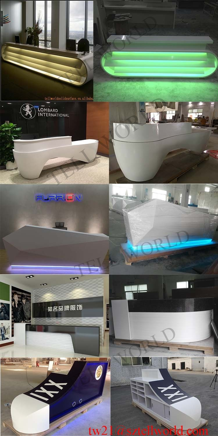 Modern Design Hotel Reception Size Office Reception Counter For