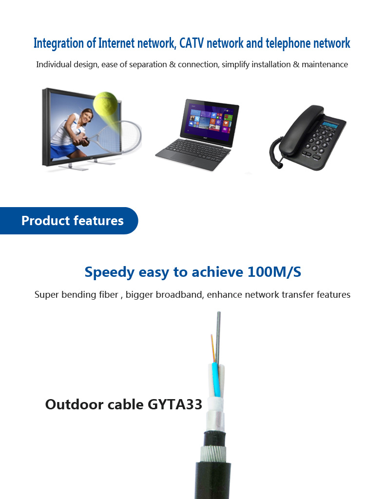 Outdoor Optical Cable For Submarine Installation Gyta33 2 Core Patch Panel Wiring Telephone 110 To Rj 45 Distribution Cabling Systemrj Panelnetwork Module110 Panelcat5e 24 Ports Panelcat6 Panelpatch Cord Pigtail