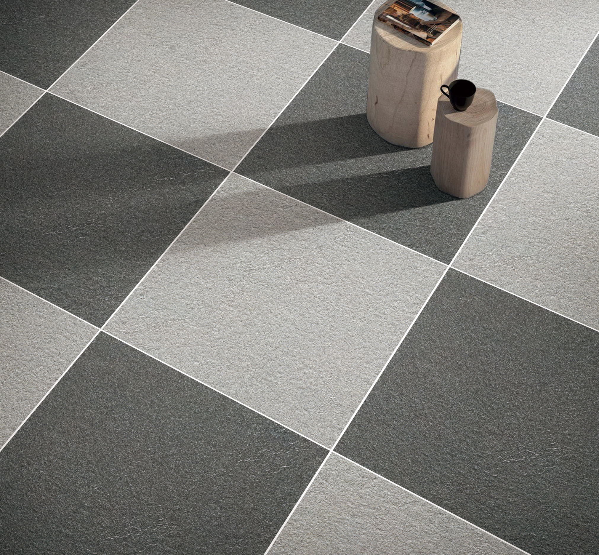 Building Material Grey Rustic Full Body Glazed Floor and Wall Tile ...