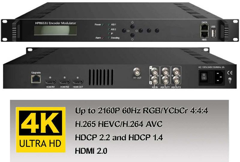 4K 2160p HDMI H  265 Encoder Modulator