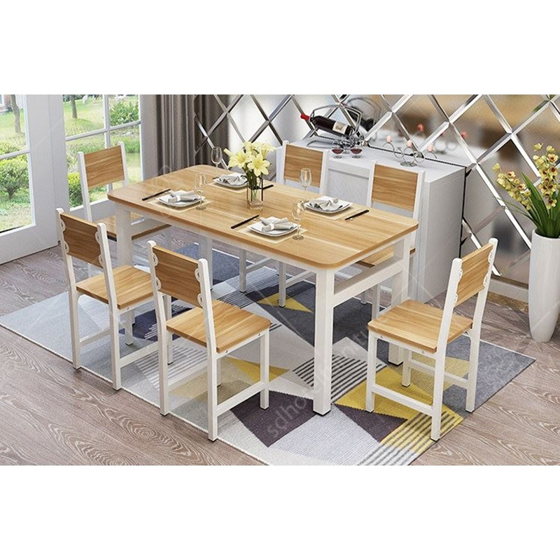 Modern Simple Design Dining Table Set, Modern Contemporary Dining Room Set