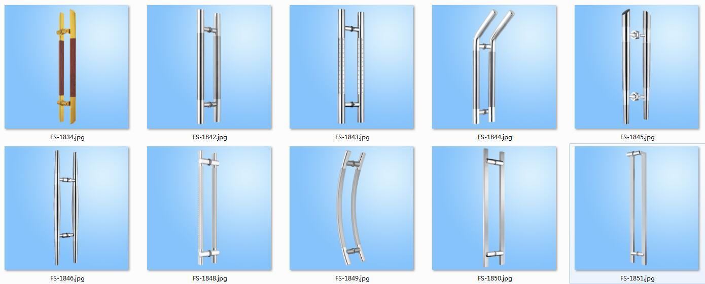 Stainless Steel Glass Door Pull Handle Fs 1848 China Pull Handle