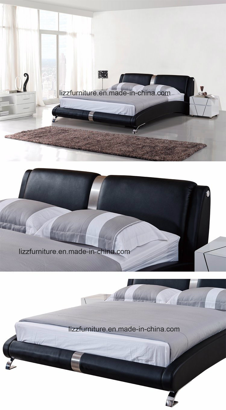 Elegantes Muebles de dormitorio moderno Dubai cama de madera de ...