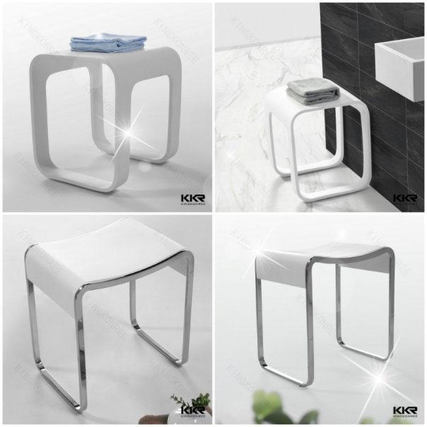 Kingkonree Artificial Stone Bench Chair Bathroom Shower Stool (180913)
