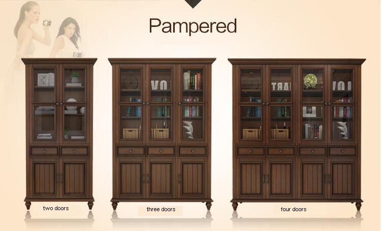 Muebles estilo europeo s lido teca librer a de madera - Limpiar puertas de sapeli ...