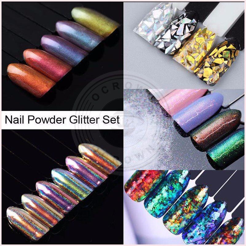 Neon Chameleon Color Shifting Mirror Gel Nails Pigment Powder ...