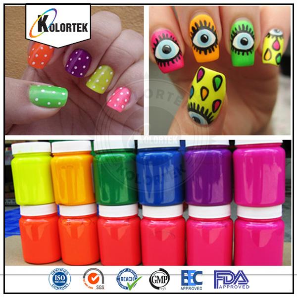 Fluorescent Nail Pigment Powder, Bright Colors Neon Nail Enamel ...