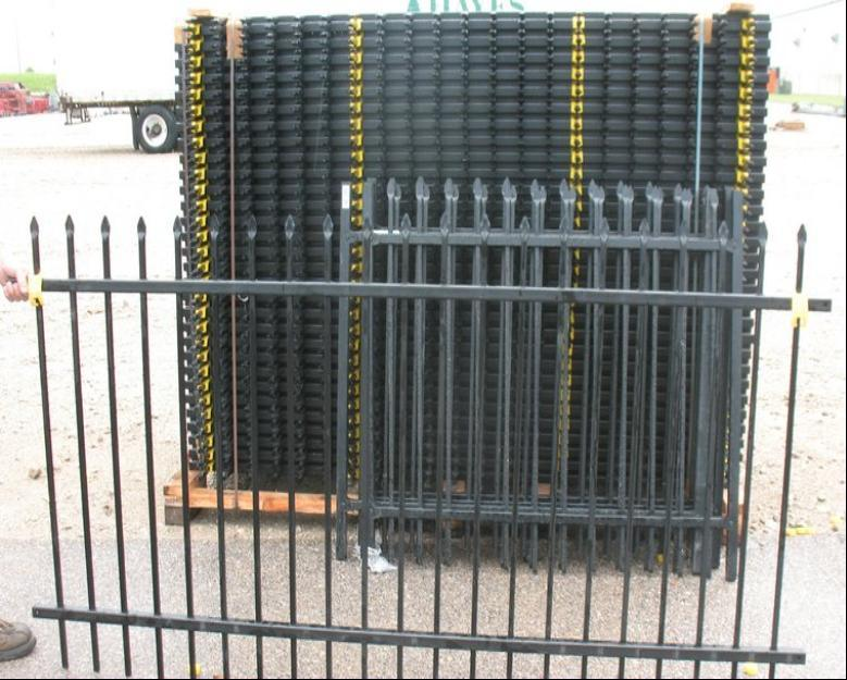 5FT*8FT Black Coating Wrought Iron Fence/Wrought Iron Fencing to USA