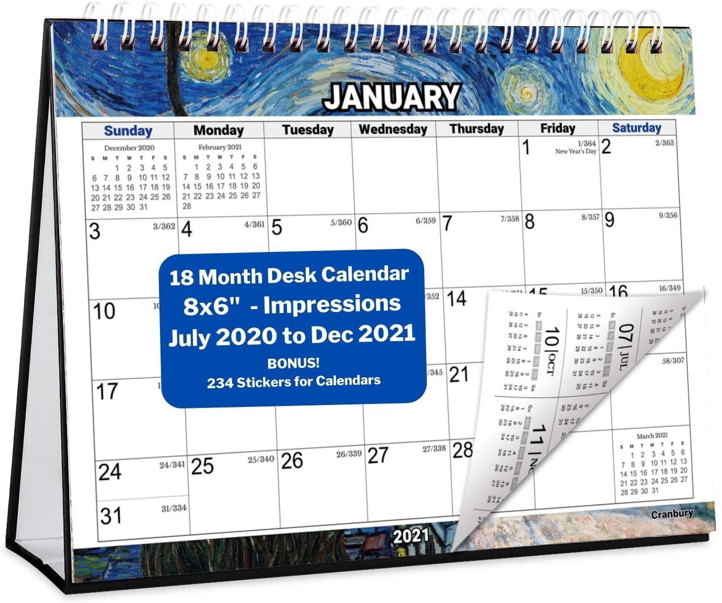 Small Desk Calendar 2020 2021