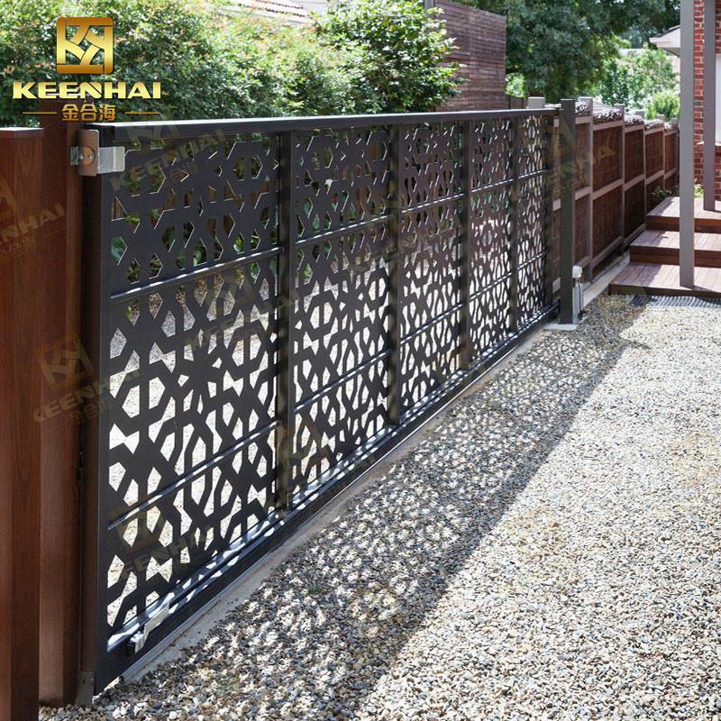 Laser Cut Aluminum Panel Main Entrance Gate Design For