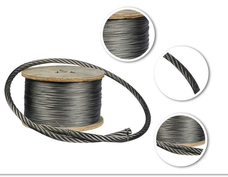 Ss 316 1X7 7X7 7X19 Stainless Steel Wire Rope Packed by Coil - China ...