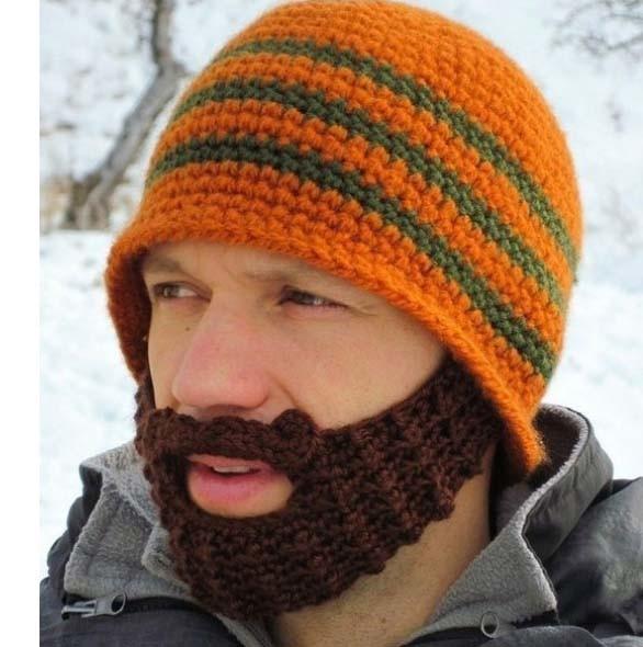 Los hombres de diseño creativo de lana tejida Barba Hat – Los ...