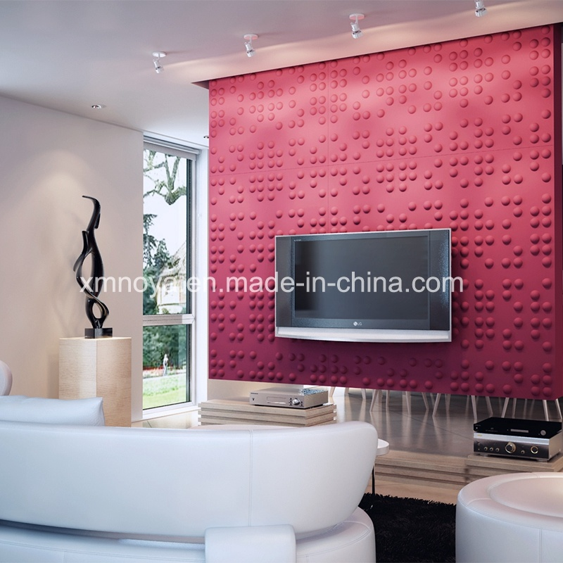 Acoustical Decorative 3D Wall Board for Living Room TV Background ...