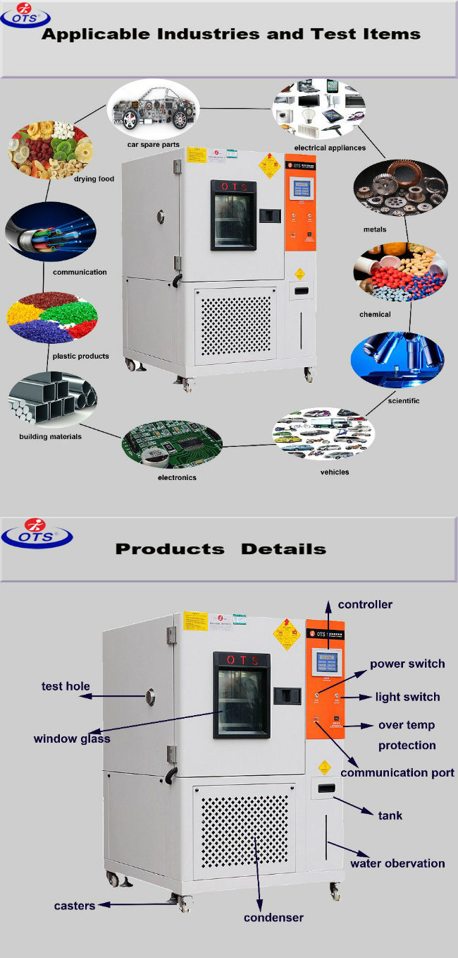 Low High Temperature Humidity Climatic Test Chamber for Laboratory Environmental T H C