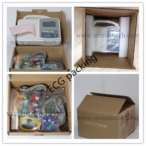 Portable Three Channels ECG Machine with Touch Screen (UN8003)