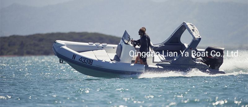 Liya 6.6meter/22feet Rib Boat Hypalon Large Inflatable Rigid Boat Ce