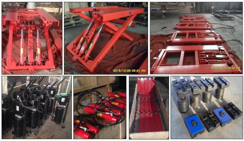 Mini portátil coche vehículo elevador de tijera transpaleta manual ...