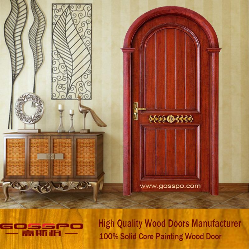 Puerta de madera interior de la tapa redonda del estilo europeo ...