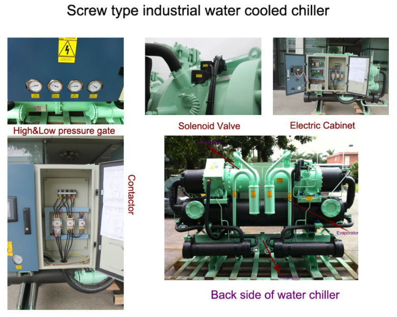 Screw Type Commercial Water Cooled Water Chiller for Building