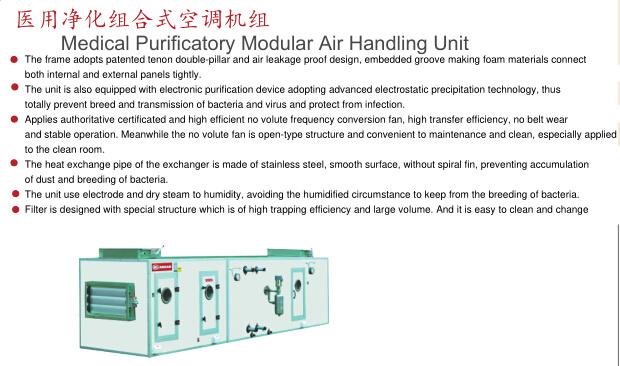 Medical Purificatory Modular Air Handling Unit for Split Unit