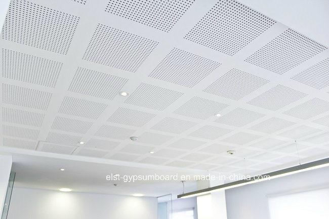 Sound Absorbing Gypsum Board : Absorção sonora de gesso perfurada estuque placa pladur