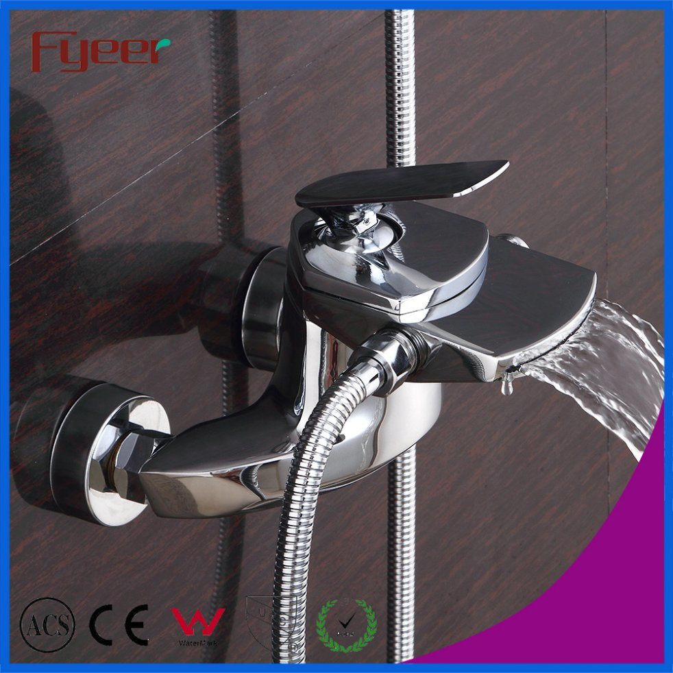 Wall Mounted Waterfall Bathtub Faucet with Hand Shower Head - China ...