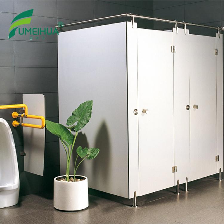 Fmh White Color HPL Shower Toilet Partition - China Toilet Cubicle ...