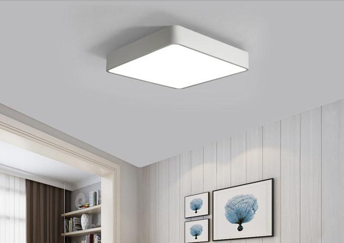 Plafoniere Led A Soffitto Moderno Dimmerabile : Indicatore luminoso quadrato moderno chiaro acrilico della lampada