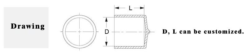 2.0mm I. D. X 15mm Long Round Vinyl Caps Plastic Caps Pipe Caps