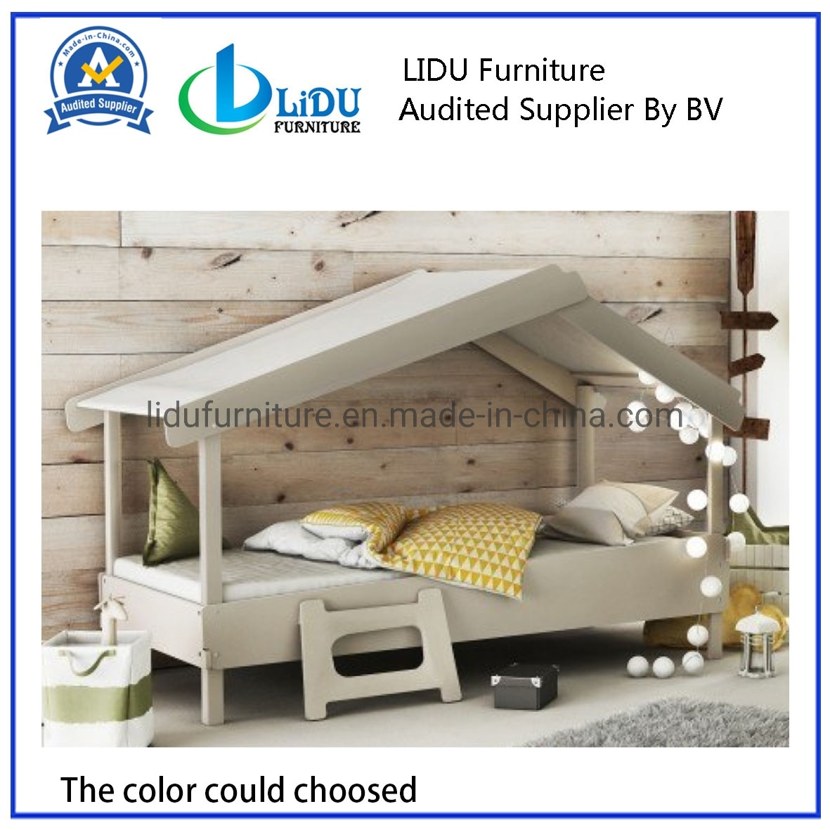 Modern Bedroom Furniture Saving Space Solid Wooden Bed Treehouse House Style Natural Pine Wooden Kids Bed Frame Wooden Bed Bunk Bed Children S Bed Safe Bed China Wooden Bed Kid S Bed