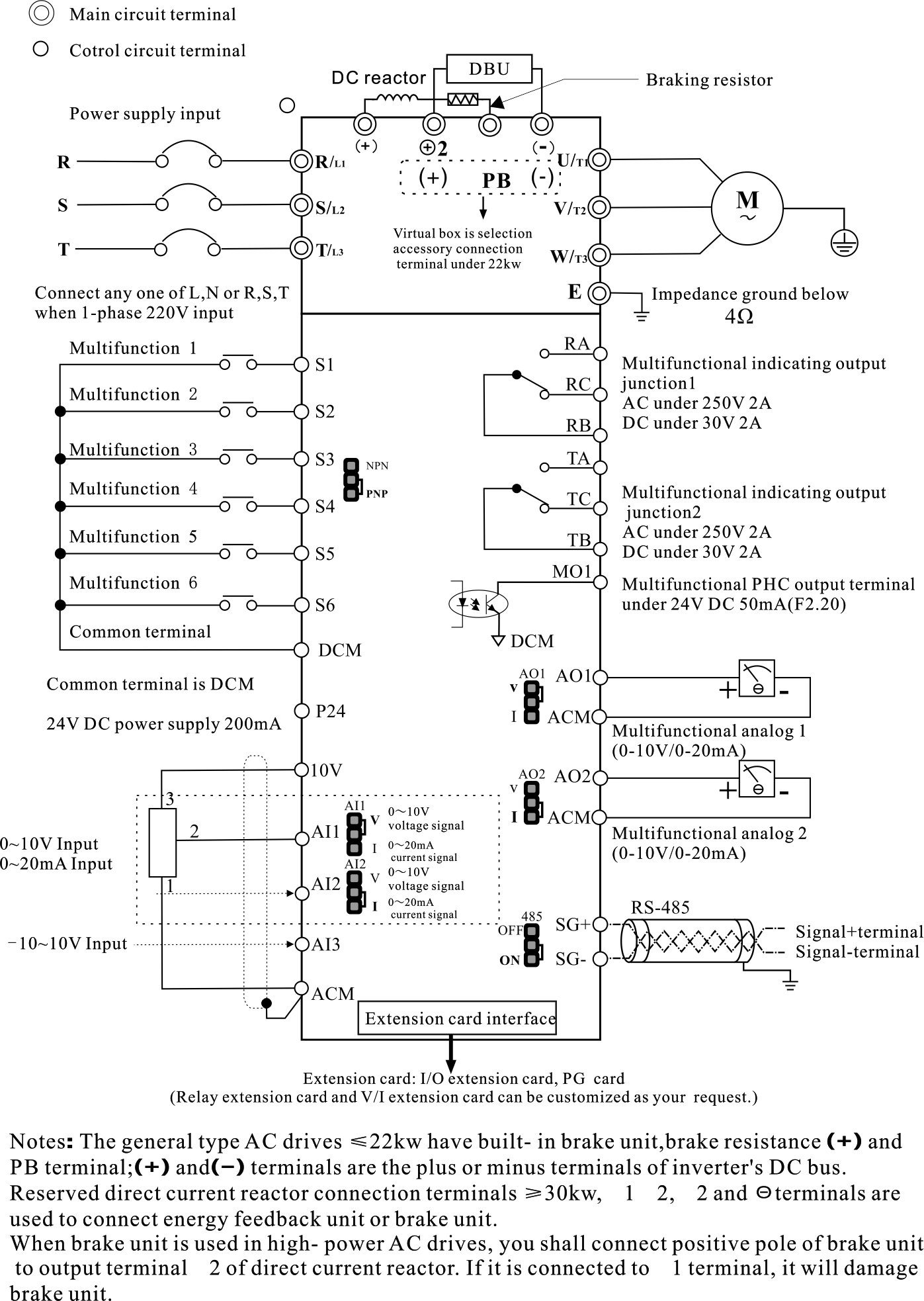 04kw500kw Frequency Inverter Ac Drive Vsd Vfd Single Phase Drives Wiring Diagram Control Circuit