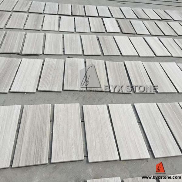 Par Marble Floor : Tuiles en bois blanches de marbre veine pour le mur et
