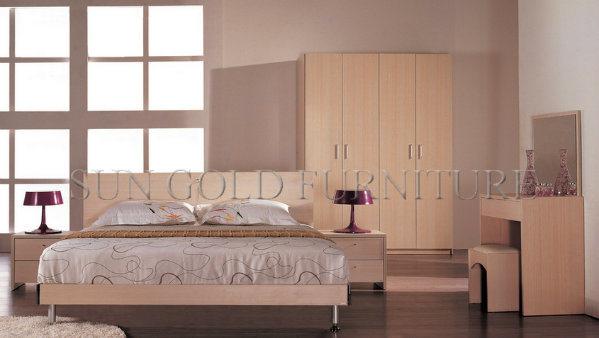 2016 Cama de dormitorio moderno popular diseño elegante rey (SZ ...