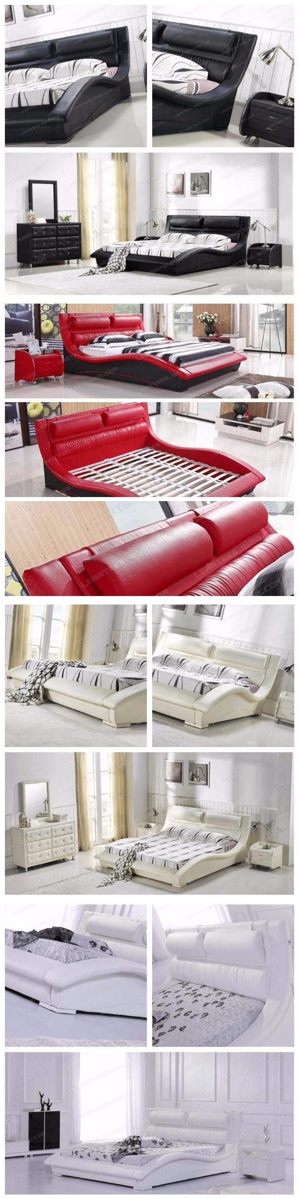 Un042 Europa moderna cama suave cuero de tamaño King Size – Un042 ...