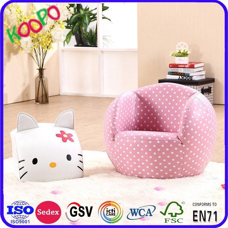 Hello Kitty Cat Muebles para bebés/niños otomano sofá de cuero/Niños ...