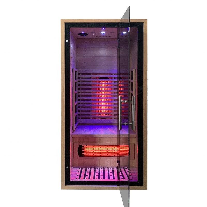 Passed SAA Certificate Hemlock 1 Person Mini Full Spectrum Sauna Portable Cabin with New Concept