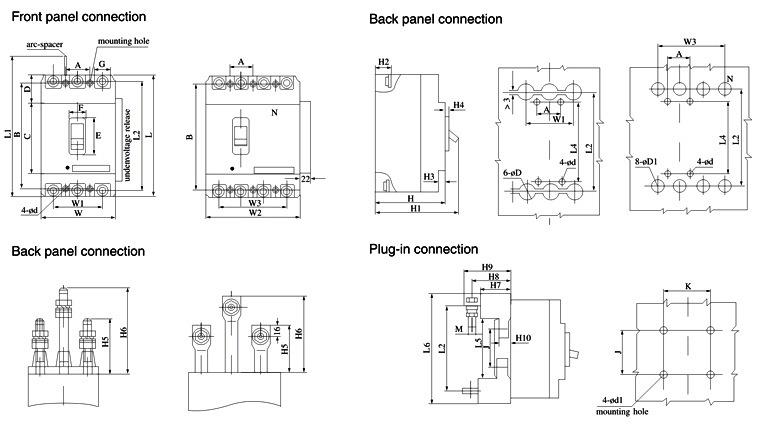 Prices of MCCB 100AMP Circuit Breaker (AM1)