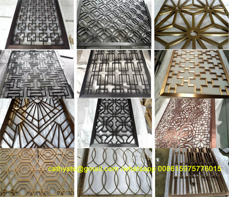 Metal Stainless Steel Laser Cut Screens Decorative