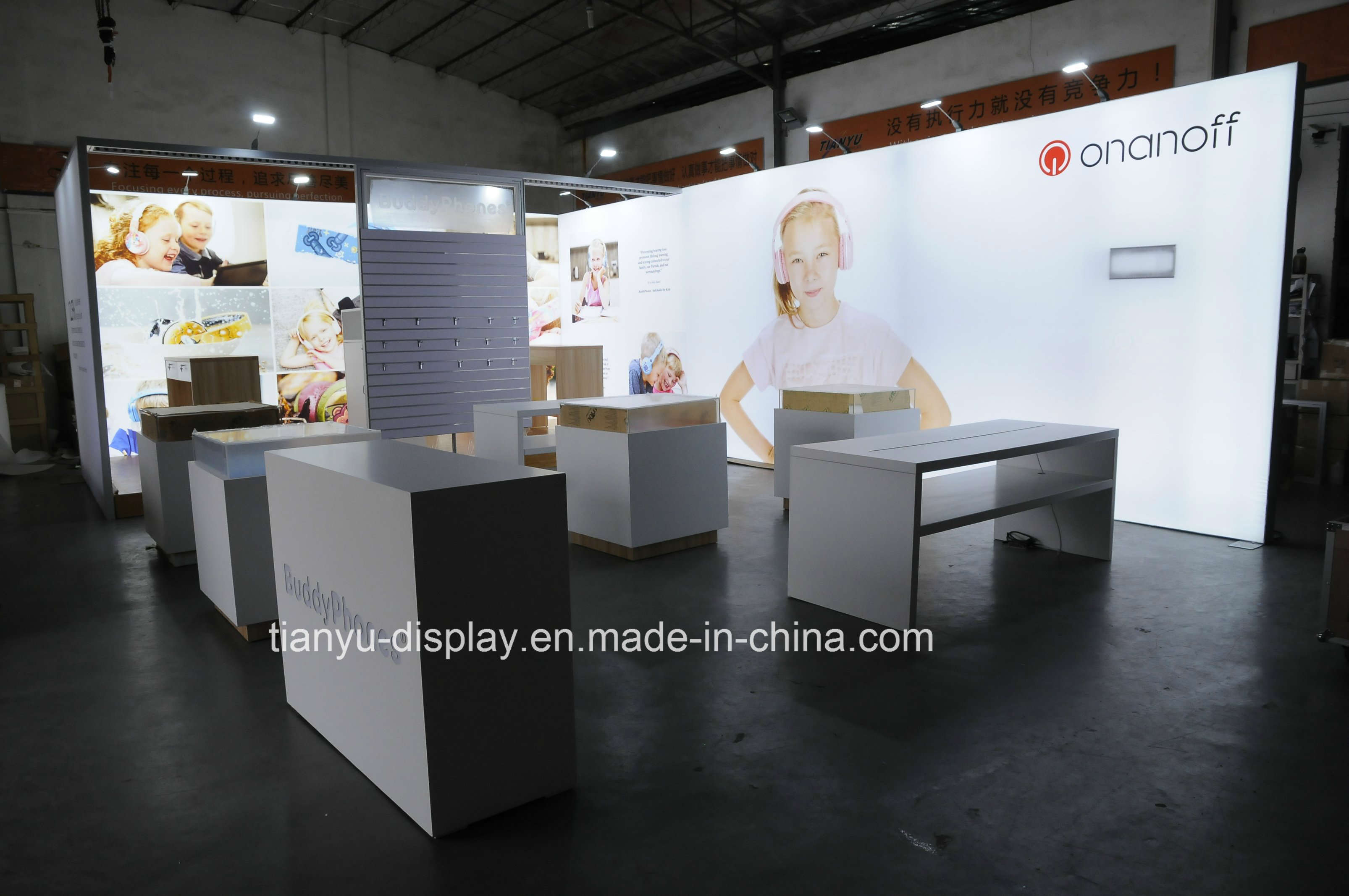Exhibition Stall Material : Durable aluminum expo stand trade show exhibition stall free design