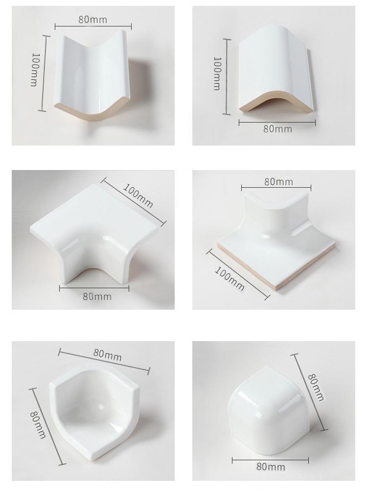 White Ceramic Tile Bull Nose For Bathroom China Bullnose Tile Cove Base Tile Made In China Com